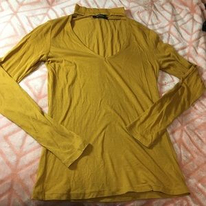 Mustard Yellow Choker shirt